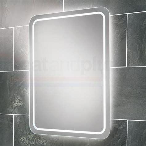 Lit Bathroom Mirrors by Hib Led Back Lit Bathroom Mirror 700mm H X 500mm W