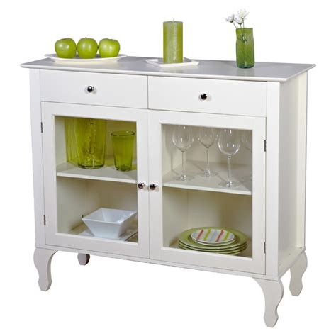 Antique White Sideboard Buffet by Antique White Sideboard Buffet Console Table With Glass