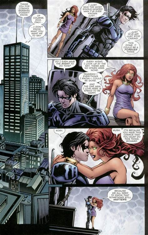 Pin By Rae On Dc Comics Nightwing Starfire Nightwing