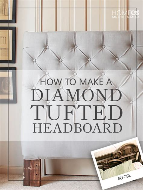 how to make a size headboard hometalk how to make a sophisticated tufted