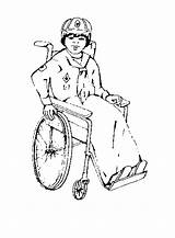 Cub Scout Wheelchair Library Clipart Scouts Bsa Activities sketch template