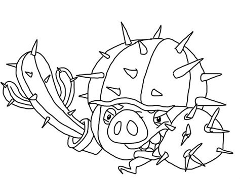 Angry Birds Epic Kleurplaat by Angry Birds Epic Coloring Page Cactus Pig My Free