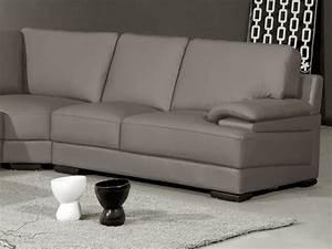 Canapé Droit Xxl : canap d 39 angle en cuir italien 6 7 places mister gris clair mobilier priv ~ Teatrodelosmanantiales.com Idées de Décoration