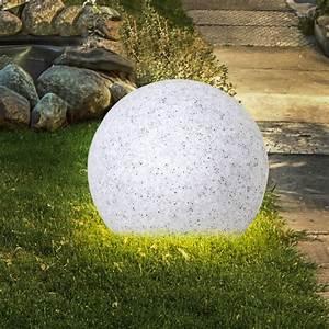 6 5 watt led aussen lampe garten teich deko kugel granit With französischer balkon mit kugel deko garten