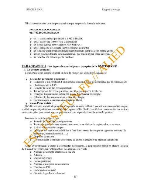 siege bmce casablanca adresse rapport de stage bmce2