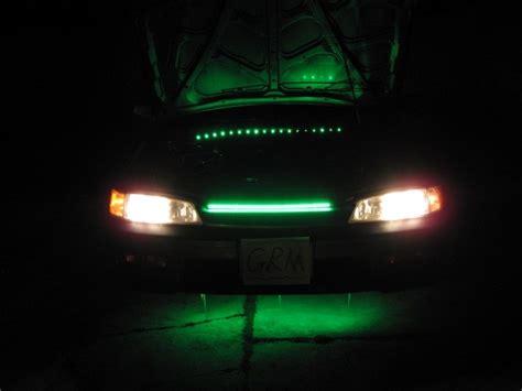 Car Led Knight Rider Flash Strobe Scanner Light Green Ebay