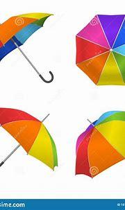 Realistic Detailed 3d Rainbow Blank Umbrella Template ...