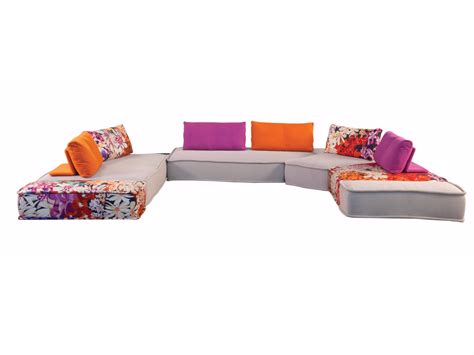canapé roche bobois kenzo sectional modular fabric sofa with removable cover