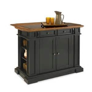 kitchen island home depot home styles deluxe traditions kitchen island in black with oak top and black granite inlay