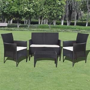 Gartenmöbel Set Rattan Günstig : vidaxl 7 tlg gartenm bel lounge set poly rattan schwarz g nstig kaufen ~ Eleganceandgraceweddings.com Haus und Dekorationen
