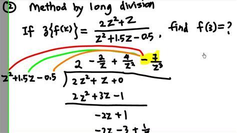 bureau inversé inverse z transform by division