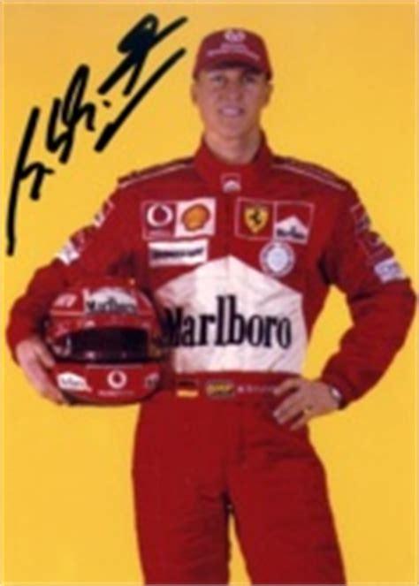 michael schumacher signed items