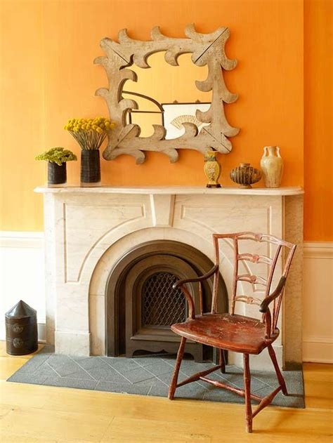 17 best ideas about orange accent walls on