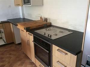 Plan De Travail De Cuisine : r alisation de plan de travail de cuisine en granit noir ~ Edinachiropracticcenter.com Idées de Décoration