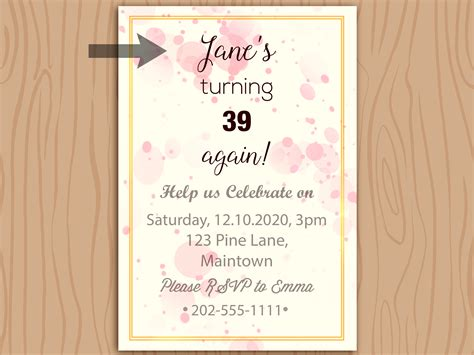 How to Write a Birthday Invitation: 14 Steps (with Pictures)
