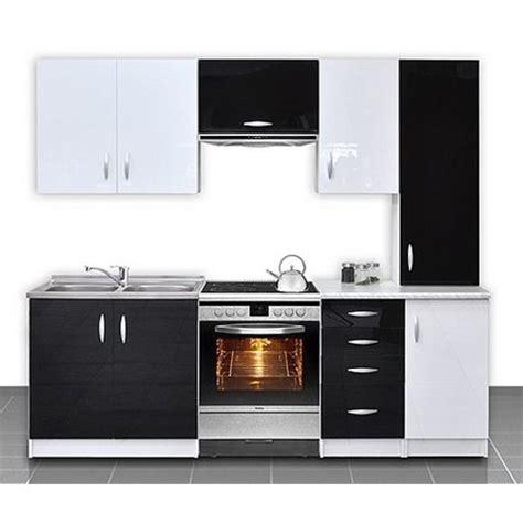 soldes cuisine equipee cuisine équipée de 2m20 oxane noir et blanc achat