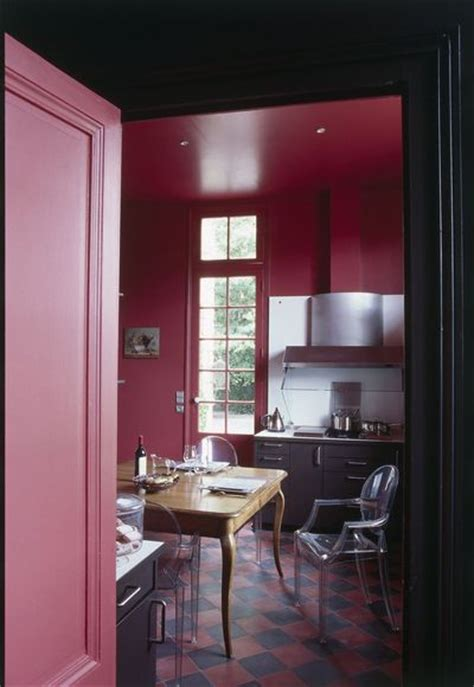 dusty pink  grey kitchen interiors  color