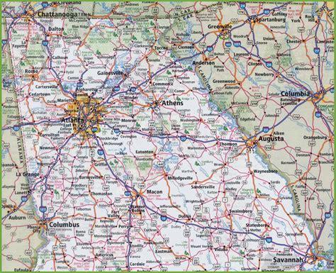 Map of Northern Georgia