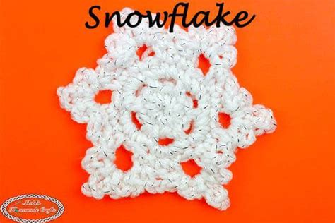 How To Crochet A Beautiful & Easy Snowflake