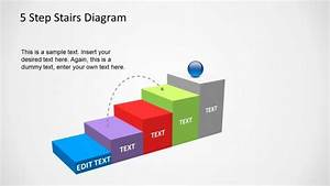 5 Step Stairs Diagram Template For Powerpoint