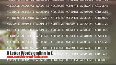 8 letter words ending in e youtube