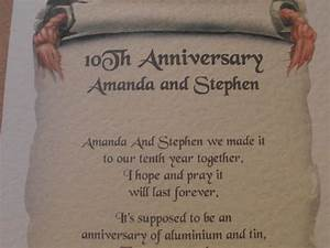 personalised anniversary poem 1st 2nd 3rd 10th 25th any ebay With what to buy for a 10th wedding anniversary