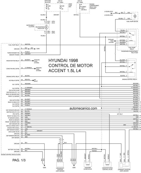 hyundai accent 1998 misc document wiring diagram pdf