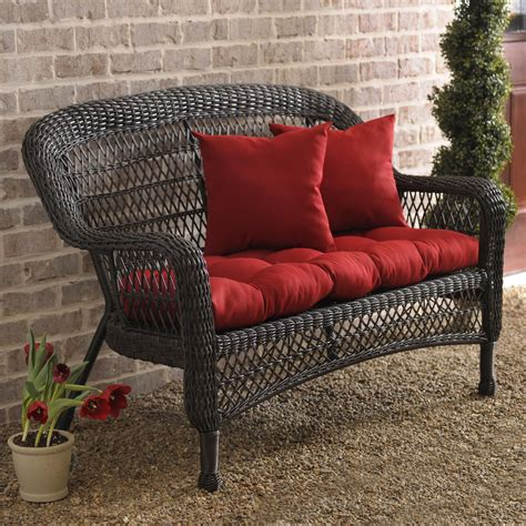 Patio Settee by Brown Wicker Settee Settees Porches And Brown