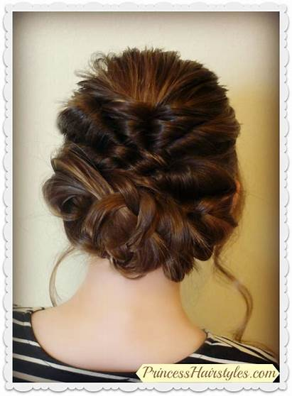 Updo Braids Prom Romantic Hairstyle Hair Hairstyles
