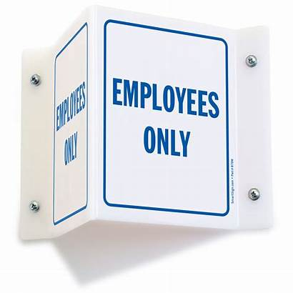 Employees Signs Employee Sign Projecting Mysafetysign 3d