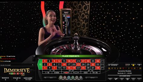 Immersive Roulette Live Roulettecasino