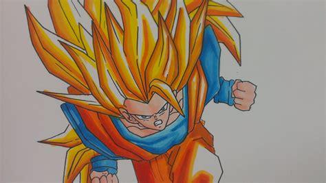 Drawing Goku Ssj3 Dragon Ball Z Youtube