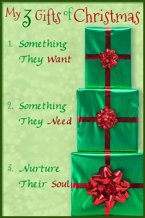 my 3 gifts of christmas christmas gift ideas focus on