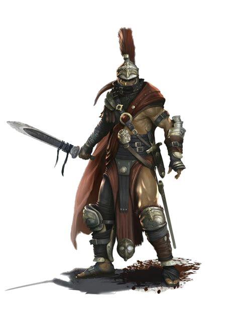 human male gladiator pathfinder pfrpg dnd dd