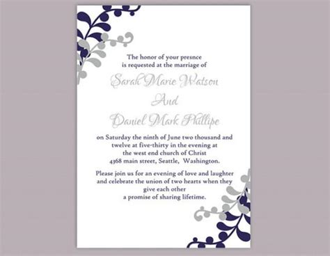 invitation template word diy wedding invitation template editable word file instant printable invitation silver