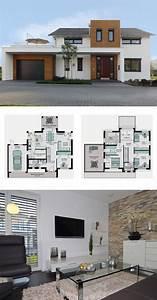Haus Grundriss Ideen Einfamilienhaus : modernes einfamilienhaus mit garage galerie und ~ Lizthompson.info Haus und Dekorationen