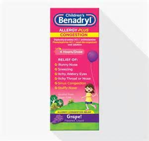 Children's Benadryl Allergy Congestion Plus