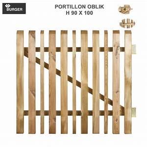 Portillon Bois Jardin : portillon pour cl ture bois de jardin oblik l100 x h90 cm 437 burger 8 ~ Preciouscoupons.com Idées de Décoration