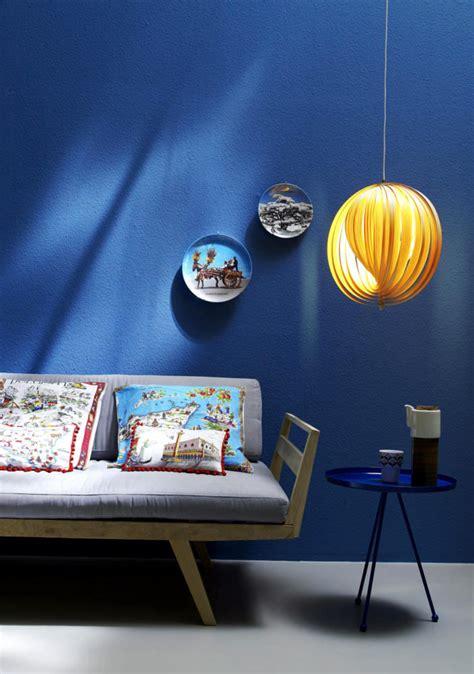 throw deep blue wall      mediterranean