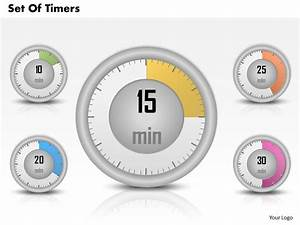 0314 Business Ppt Diagram Set Of Timers Powerpoint