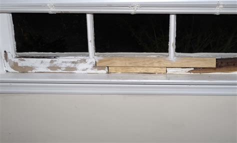 Window Sill Filler by Repair A Rotted Window Sill Self Made Homes