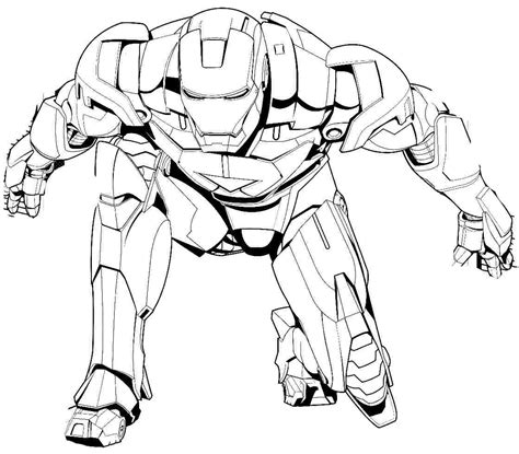 Online Coloring Pages Iron Man The Art Jinni