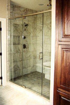big walk  shower  glass panels shower doors door