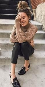 Tenue Tendance Femme : makeup hair ideas fall outfits women 39 s brown turtle neck sweater click to shop this look ~ Melissatoandfro.com Idées de Décoration