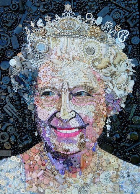 Famous Portraits Recreated From Recycled Materials And