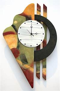 25 best ideas about abstract metal wall art on pinterest With unique modern wall clocks ideas for minimalist room