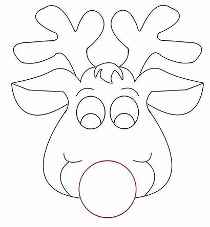 Face Cow Coloring Pages Printable Mask Reindeer