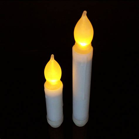 flickering led candle lights liander set of 24 yellow flameless ivory mini wax dipped