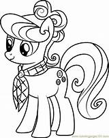 Suri Polomare Coloring Coloringpages101 Friendship Pony Magic sketch template