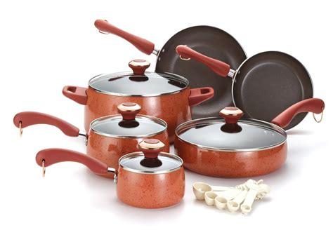 paula deen cookware porcelain pots pans sets piece nonstick
